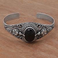 Onyx Cuff Bracelet Balinese Magic In Black (indonesia)