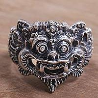 Featured review for Sterling silver ring, Barong Parade