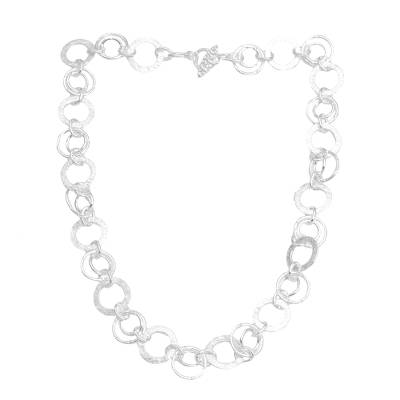 925 Sterling Silver Modern Chain Necklace from Bali