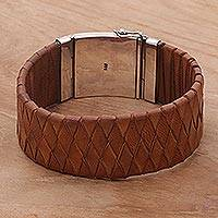 Leather wristband,
