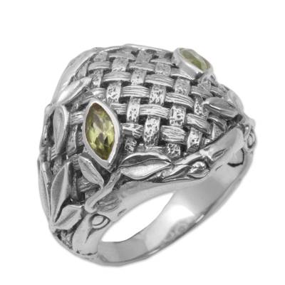 Peridot and Sterling Silver Men