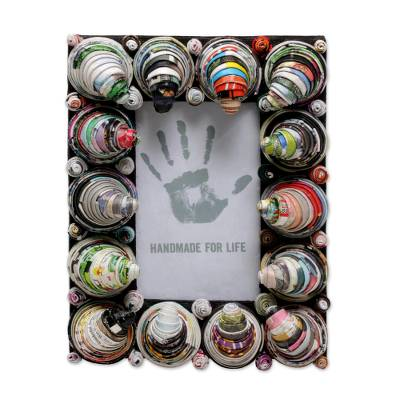 3x5 Recycled Paper Photo Frame with Cones from Bali