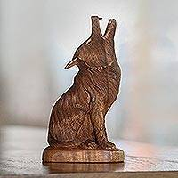 Featured review for Wood sculpture, Howling Wolf