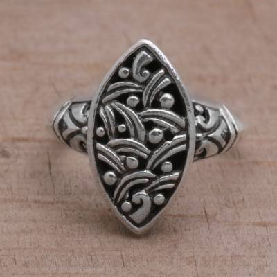 design rings online for free - Handmade 925 Sterling Silver Women's Cocktail Ring from Bali