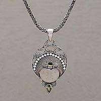 Peridot pendant necklace,