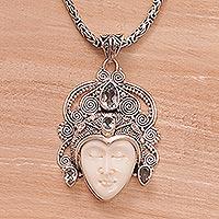 Blue topaz pendant necklace,