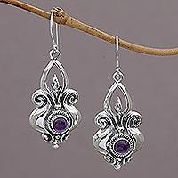Amethyst Dangle Earrings Glorious Majesty (indonesia)