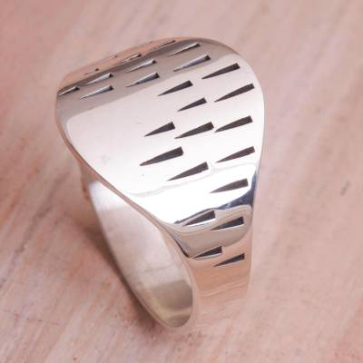 cheap silver signet ring cell