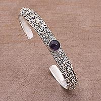 Amethyst cuff bracelet,