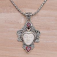 Garnet Pendant Necklace Moonlight Warrior (indonesia)