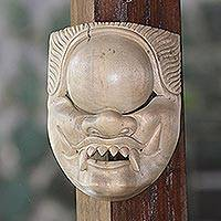 Wood mask, 'Kala Rau' - Handcrafted Hibiscus Wood Cultural Mask from Bali