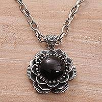 Featured review for Onyx pendant necklace, Midnight Lotus