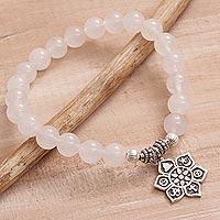 Moonstone beaded stretch bracelet,