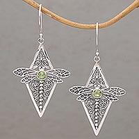 Peridot dangle earrings,