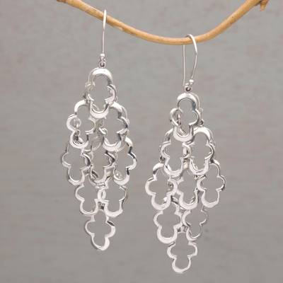Sterling silver dangle earrings, Spanish Moss