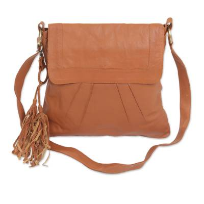 Adjustable Leather Sling in Spice from Java