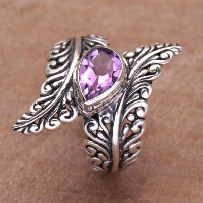 Amethyst cocktail ring, Ferny Caress