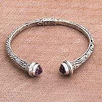 Amethyst cuff bracelet Amethyst Memory (Indonesia)