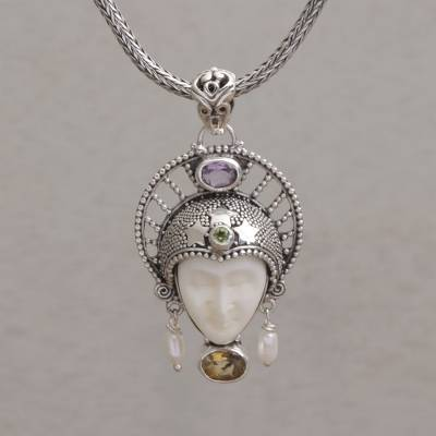 Multi-gemstone pendant necklace, Star King