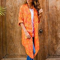 Rayon batik jacket,