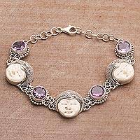 Amethyst link bracelet Bond of Princehood (Indonesia)