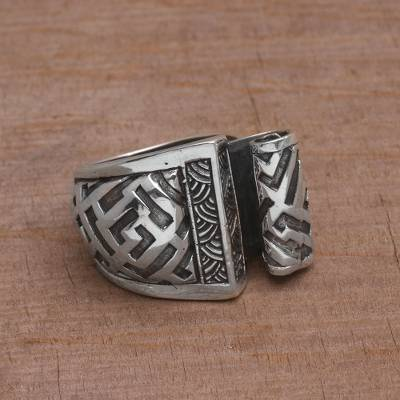 silver rings mens taxco business