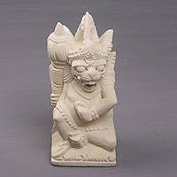 Sandstone sculpture, 'Left Togog' - Hand-Carved Sandstone Sculpture of Togog from Bali