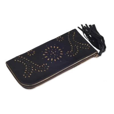 Black and Gold Wallet Clutch Combo Handmade in Bali