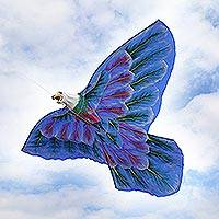 Nylon kite, 'Bald Eagle' - Hand-Painted Nylon Bald Eagle Kite from Bali