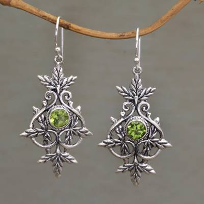 Peridot dangle earrings, Marvelous Vintage