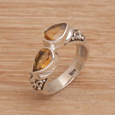 Citrine cocktail ring, Temple Tears