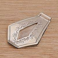Sterling silver money clip, 'Hold On' - Sterling Silver Money Clip Hand Crafted in Bali