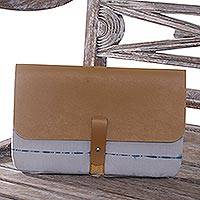 Cotton clutch handbag, 'Adventure in Jakarta' - Cotton Clutch Handbag from Indonesia