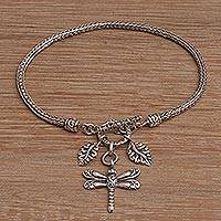Featured review for Sterling silver charm bracelet, Dragonfly Dynasty