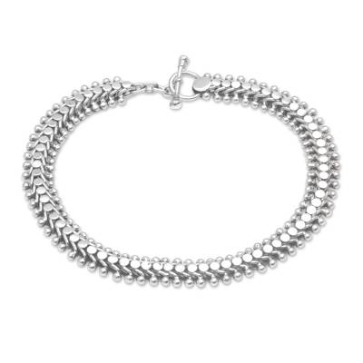 Handcrafted Balinese Sterling Silver Anklet