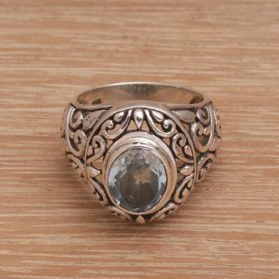 silver ring set boho kitchen