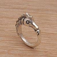 Featured review for Sterling silver band ring, Kuda Laut