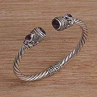 Amethyst cuff bracelet Sweet Song (Indonesia)