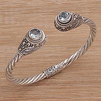 Blue topaz cuff bracelet Ardent Memories (Indonesia)