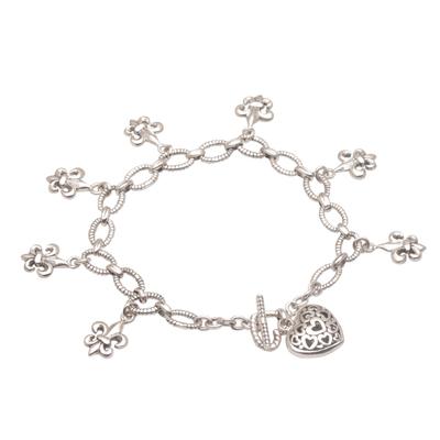Handmade 925 Sterling Silver Pendant Bracelet Heart