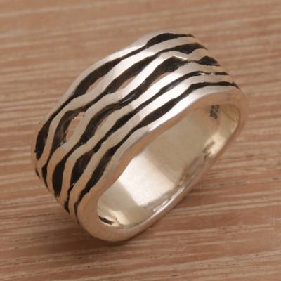 Artisan Handmade 925 Sterling Silver Band Ring Indonesia