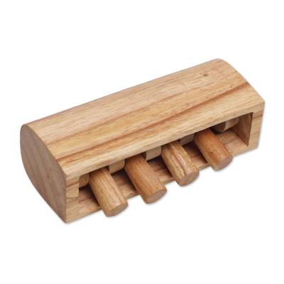 Wood percussion instrument, 'Natural Melody' - Hand Carved Wood Percussion Instrument from Bali