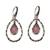 Gold accented chalcedony dangle earrings, 'Eternity Dew in Pink' - Chalcedony and Sterling Silver Gold Accented Dangle Earrings (image 2a) thumbail