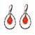 Gold accented chalcedony dangle earrings, 'Eternity Dew in Orange' - Chalcedony and Sterling Silver Gold Accented Dangle Earrings (image 2a) thumbail