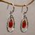Gold accented chalcedony dangle earrings, 'Eternity Dew in Orange' - Chalcedony and Sterling Silver Gold Accented Dangle Earrings (image 2b) thumbail