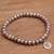 Cultured pearl beaded stretch bracelet, 'Paw Memento' - Paw Print Cultured Pearl Beaded Stretch Bracelet from Bali (image 2b) thumbail