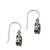 Garnet dangle earrings, 'Caressed by Paws' - Paw Print Faceted Garnet Dangle Earrings from Bali (image 2d) thumbail
