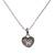 Sterling silver pendant necklace, 'Paw Print Love' - Heart Shaped Sterling Silver Paw Print Pendant Necklace (image 2a) thumbail