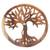 Wood relief panel, 'Radiant Tree' - Hand Carved Suar Wood Tree Round Wall Panel (image 2d) thumbail