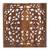 Wood relief panel, 'Bali Flower Spirit' - Hand Carved Floral Wood Wall Art Relief Panel from Bali (image 2a) thumbail
